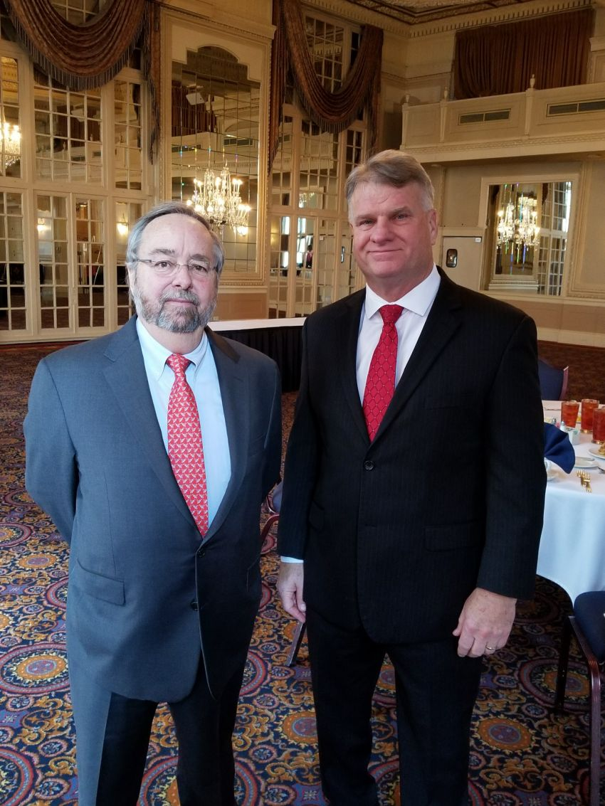 Left to Right Speaker John Scroggin and President EPC STL Bob Bauer