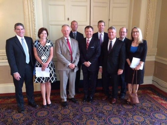 Robert Keebler with board members